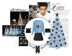 """""""Happy New Year !"""" by lantis ❤ liked on Polyvore featuring WALL, Givenchy, Ted Baker, Charlotte Olympia, with, siwon, 2015 and Christmasoutfit"""