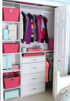 Pink And White Closet Interior