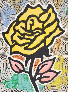 DONALD BAECHLER - ROSE (PORTFOLIO OF 6) - WENG CONTEMPORARY http://www.widewalls.ch/artwork/donald-baechler/rose-portfolio-of-6/ #print