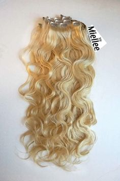 Butter Blonde Clip Ins - Beach Wave - Remy Human Hair Blonde Hair Extensions, Clip In Extensions, Thin Hair, Wavy Hair, Butter Blonde Hair, Golden Blonde, Beach Waves, Remy Human Hair, Medium Hair Styles