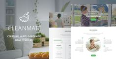 CleanMate is a responsive and retina ready HTML Template best suitable for cleaning companies, laundry, gardener, car wash business, window cleaning or maid services business, post renovation cl...