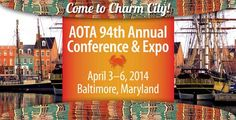 AOTA's Annual Conference & Expo: Be there!  Baltimore, MD April 3–6, 2014  Register Now! - See more at: http://www.aota.org/en/Conference-Events/Annual2014.aspx#sthash.x1YvLgAk.dpuf