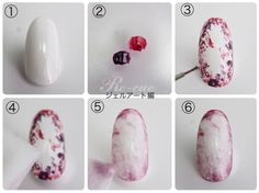 Self-nail of wipe art! Gel Art section Design Nail Art Diy, Easy Nail Art, Cool Nail Art, Diy Nails, Cute Nails, Pretty Nails, Diy Wedding Nails, Wedding Nails Design, Best Nail Art Designs