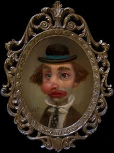 Marion Peck - Illustration - PopSurrealism - Drunk Clown