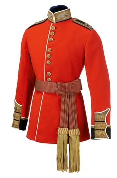 British; Scots Guards Officer's Scarlet Uniform & State Sash, from reign of George V