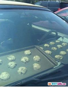Cookies baking while you shop