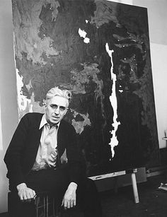 Clyfford Still Still sold two paintings to the Albright-Knox in the In 1964 the artist, famous for his distaste for the traditional art establishment and his reluctance to sell his work, gave 31 paintings to the museum. Willem De Kooning, Portraits, Portrait Art, Jackson Pollock, Famous Artists, Great Artists, Clyfford Still, Art Studios, Artist At Work
