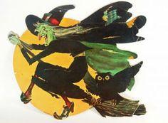 Vintage Halloween Witch Diecut Paper by BuckeyesandBluegrass on Zibbet Halloween Images, Holidays Halloween, Halloween Crafts, Happy Halloween, Halloween Witches, Halloween Ideas, Halloween Stuff, Halloween Goodies, Halloween Costumes