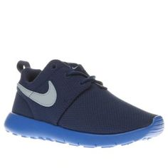 Nike Blue Roshe One Boys Junior Your little sportster can sprint to the finish line thanks to the Nike Roshe One as it arrives for kids. This blue man-made style features a breathable mesh upper, sitting on a lightweight tonal rubbe http://www.MightGet.com/january-2017-13/nike-blue-roshe-one-boys-junior.asp