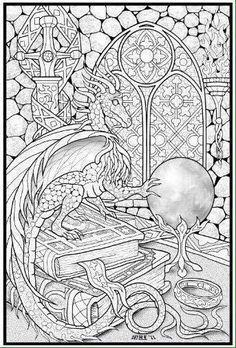 realistic dragon coloring pages dragon coloring pages realistic az coloring pages hadas dragones gnomos colorear pinterest realistic dragon - Dragon Coloring Pages For Adults