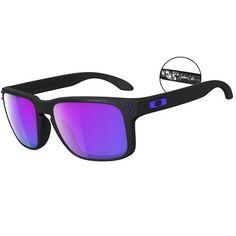 130b440a853ad Oakley Holbrook Sunglasses - Julian Wilson Signature - Matte Black   Violet  Iridium - OO9102-26 - Extreme Supply