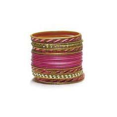 Liquidationprice.com - Bangle Bracelet Sets of 24. Slant Cut Light Pink, $3.00 (http://www.liquidationprice.com/bangle-bracelet-sets-of-24-slant-cut-light-pink/)