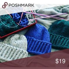Handmade Winter Hats Nice and warm for winter. Available colors grey, blue and green Handmade Accessories Hats