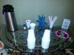 Disney frozen party #hotchocolatebar