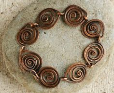 make the copper Leaf Link bracelet by Sharilyn Miller Beautiful, Affordable Handmade Holiday Gifts to Suit All Styles: 6 Reasons to Make Copper Jewelry
