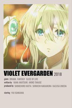 Minimalist Anime Poster Violet Evergarden Violet Evergarden Anime, Anime Titles, Anime Reccomendations, Anime Backgrounds Wallpapers, Horimiya, Cute Poster, Manga Covers, Minimalist Poster, Polaroids