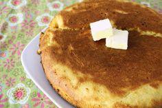 Skillet cornbread on the stove. - 2 boxes Jiffy cornbread mix - 4 T. olive oil - c. Stove Top Bread Recipe, Stove Top Cornbread, Skillet Cornbread, Rock Crock Recipes, Oven Recipes, My Recipes, Baking Recipes, Favorite Recipes, Thermomix