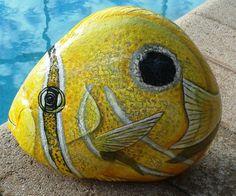 Painted Rocks/Stone Art/ Animal Stones/Tropical par MeloArtGallery
