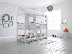 Двухъярусная кровать домик Afula > Интернет магазин детских товаров