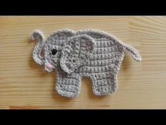 ▶ How to crochet an elephant application applique - YouTube