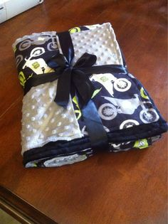 Dirt bike over sized adult blanket ready to ship by HoneyBunsUSA, $90.00