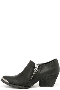 Very Volatile Ralla Black Pointed Ankle Boots