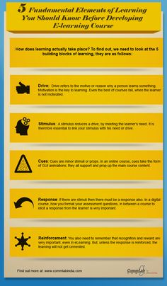 5 Must-Know Elements of Learning to Develop E-learning Courses [Infographic]