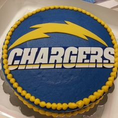 San Diego Chargers Cake Like The Script OnChargers Name Football Birthday
