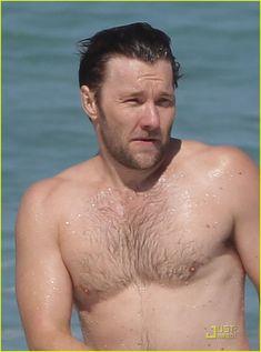 Full Sized Photo of joel edgerton shirtless bondi beach 02 ...