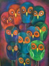 buho cubista pintura - Buscar con Google
