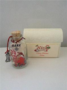 Personalised nana nan Christmas gift present card poem keepsake stocking filler by bottled4u on Etsy https://www.etsy.com/listing/210509633/personalised-nana-nan-christmas-gift