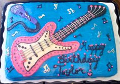 Guitar - Microphone cake