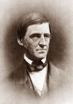I felt as though i should have a portrait of darling Mr. Ralph Waldo Emerson so that every one could see the beauty of this man. He wrote Self Reliance and Nature.