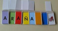 TRABAJAMOS LA LECTOESCRITURA EL libro móvil de letras para formar palabras