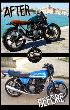 "Yamaha Virago "" THIN BLADE "" Triumph TT600 "" L' ALLIGATORE "" Suzuki Gsx400F "" TRACKER WOOD"" Moto Guzzi v35c ..."