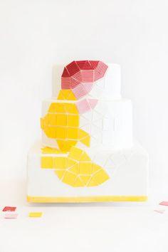 Geometric cake by Nine Cakes