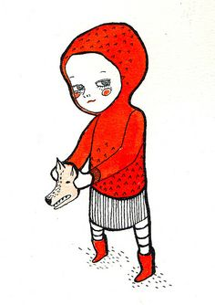 Never mess with a girl in red Little Red Riding Hood LRRH