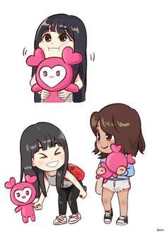 This fanart is so cute 😍 - ctto Nayeon, Chibi, Avatar Funny, Twice Fanart, Drawing Wallpaper, Cartoon Profile Pics, Fandom, Dahyun, Anime Fairy