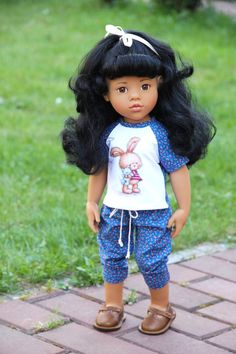 Shirt and pants in this listing Doll and shoes are not interested. If you have any questions please contact me. Daisy Mae, Gotz Dolls, Knit Shoes, Pretty Dolls, Couture, 18 Inch Doll, Doll Accessories, Knit Dress, American Girl