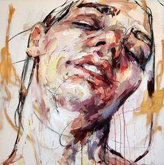 """Self Portrait,48"" x 48"", Oil"" By Elly Smallwood"""