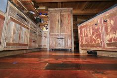 barn board kitchen cabinets | Photoset #1554 - Red Painted Barnwood Cabinets in B.C. Kitchen
