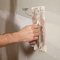 A skilled taper can hide a lot of mistakes left behind by framers and drywall hangers. Check out these great tips to achieve super smooth walls. Home Improvement Loans, Home Improvement Projects, Home Renovation, Home Remodeling, Drywall Installation, Diy Shed, Smooth Walls, Home Repairs, Do It Yourself Home