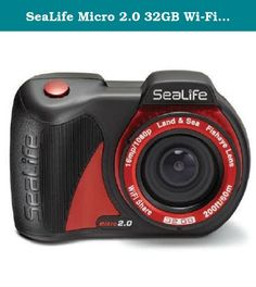 "SeaLife Micro 2.0 32GB Wi-Fi Underwater Digital Camera Waterproof up to 200 ft. (60m). Small and ergonomic, the SeaLife Micro 2.0 32GB camera is easy to handle underwater, operating with three wide ""Piano Key"" controls. Featuring a Sony 16MP CMOS Image Sensor for stunning still images, full 1080p HD video and a built-in 130-degree Fisheye Lens, the Micro 2.0 provides everything needed to capture and share your underwater encounters down to 200 feet (60m). The Micro 2.0 has no doors or..."