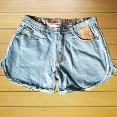 Quần short jeans nữ viền rách