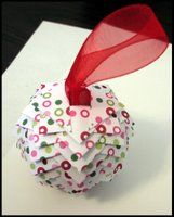Christmas Ball decoration.  Paper Pine Cone Ornament