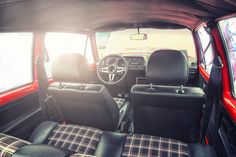 Golf Gti Idea for jeep seats. Volkswagen Golf Mk1, Volkswagen New Beetle, Vw Mk1 Rabbit, Golf 1 Gti, Mk1 Caddy, Jeep Seats, Vw Cabrio, Automotive Upholstery, Bmw X5