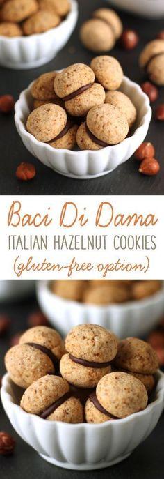 Baci di dama (Italian hazelnut cookies) can be made gluten-free, whole wheat or with all-purpose flour!