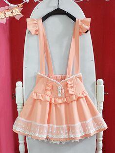 ☆Cute Winged Coral Suspender Skirt ☆