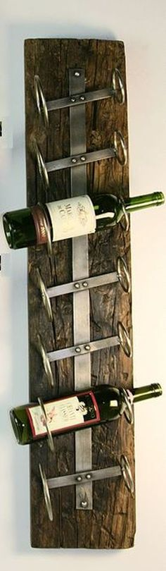 The bottles are facing the wrong way... the corks are going to dry out, but still a cool idea for a wine rack