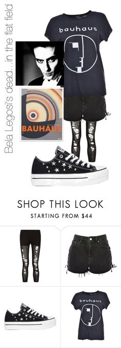 """""""The building is the Structure"""" by feralkind ❤ liked on Polyvore featuring R13, Topshop, Converse and Murphy"""